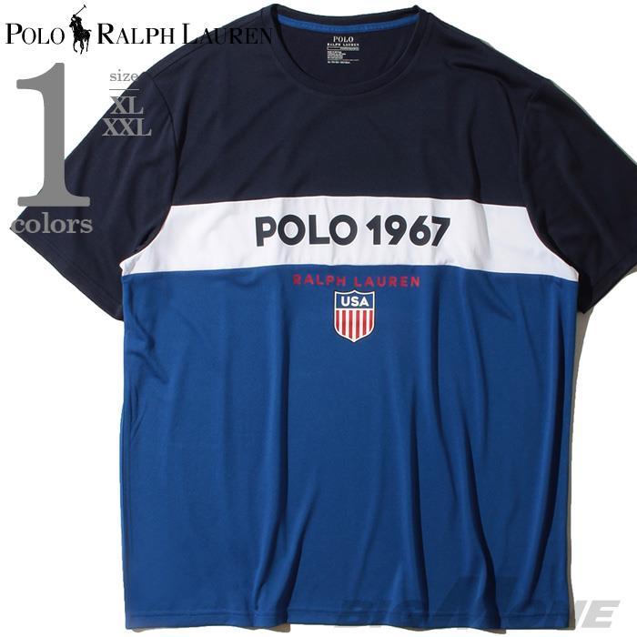 大きいサイズ メンズ POLO RALPH LAUREN ポロ ラルフローレン プリント 半袖 Tシャツ USA直輸入 710781277