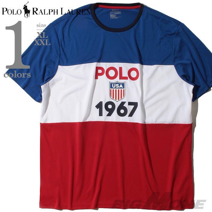 大きいサイズ メンズ POLO RALPH LAUREN ポロ ラルフローレン プリント 半袖 Tシャツ USA直輸入 710781280