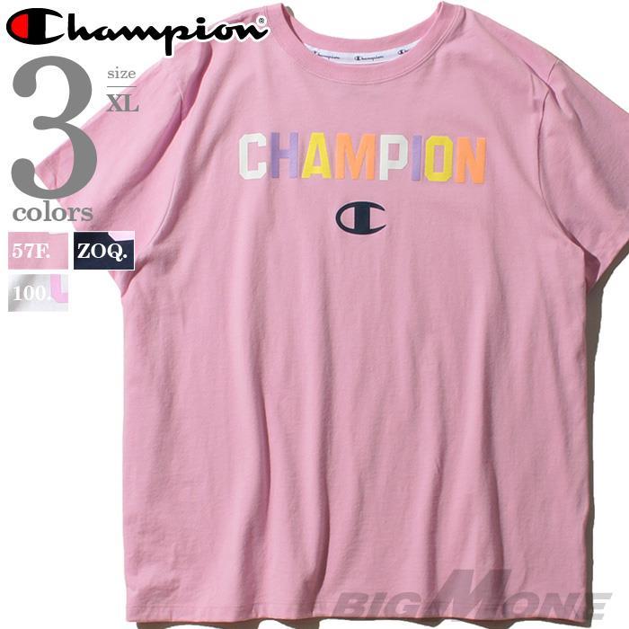 大きいサイズ メンズ Champion チャンピオン プリント 半袖 Tシャツ USA直輸入 gt18h