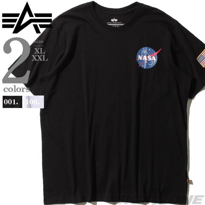 大きいサイズ メンズ ALPHA INDUSTRIES アルファインダストリーズ プリント 半袖 Tシャツ USA直輸入 uts49000g1