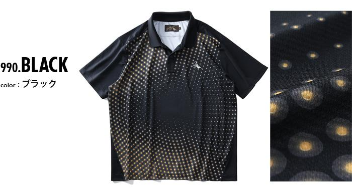 【golf1】大きいサイズ メンズ Bowerbirds Works 吸汗速乾 転写 半袖 ゴルフ ポロシャツ azpr-200296