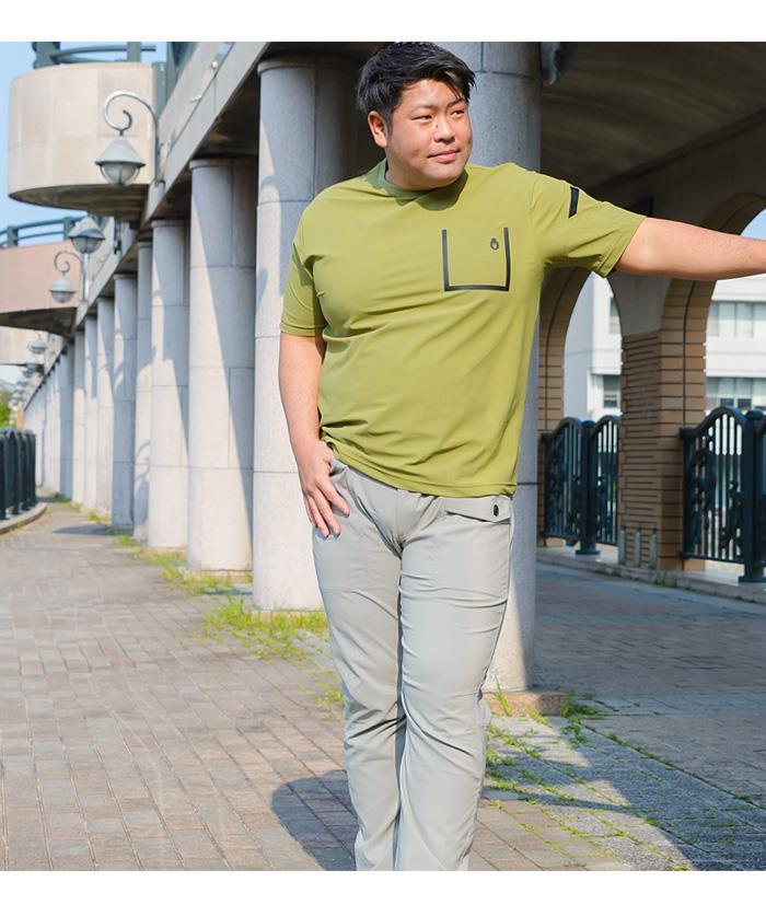 大きいサイズ メンズ BH ビィエイチ ストレッチ デザイン 半袖 Tシャツ bh-t2002101