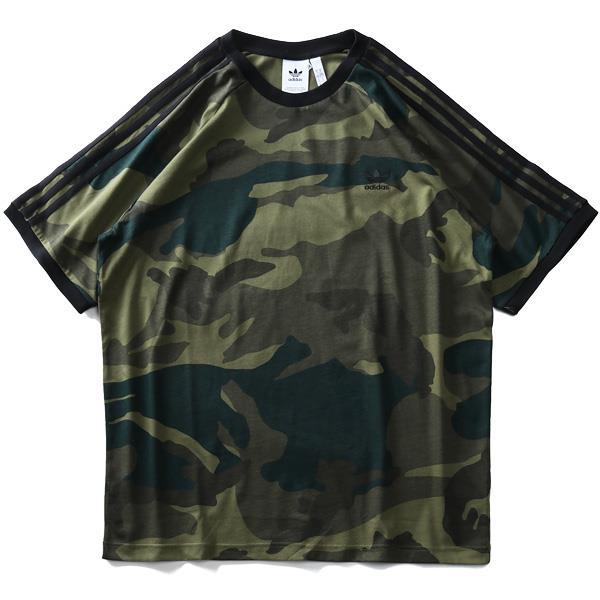 大きいサイズ メンズ ADIDAS アディダス 迷彩柄 3ストライプ ラグラン 半袖 Tシャツ USA直輸入 fm3351