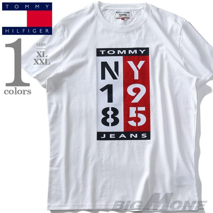 ブランドセール 大きいサイズ メンズ TOMMY HILFIGER トミーヒルフィガー プリント 半袖 Tシャツ USA直輸入 dm07860ybr