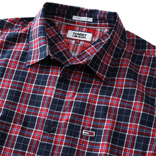大きいサイズ メンズ TOMMY HILFIGER トミーヒルフィガー チェック柄 半袖 レギュラー シャツ USA直輸入 dm079140ms
