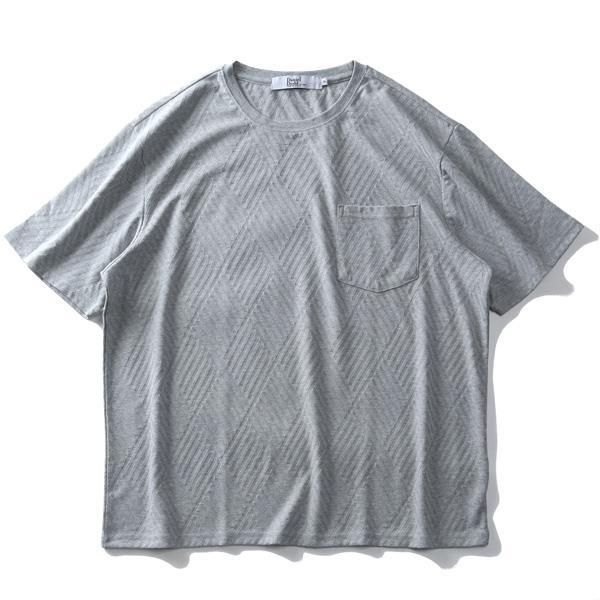 【SPSS】大きいサイズ メンズ DANIEL DODD ジャガード ポケット付 半袖 Tシャツ azt-2002134