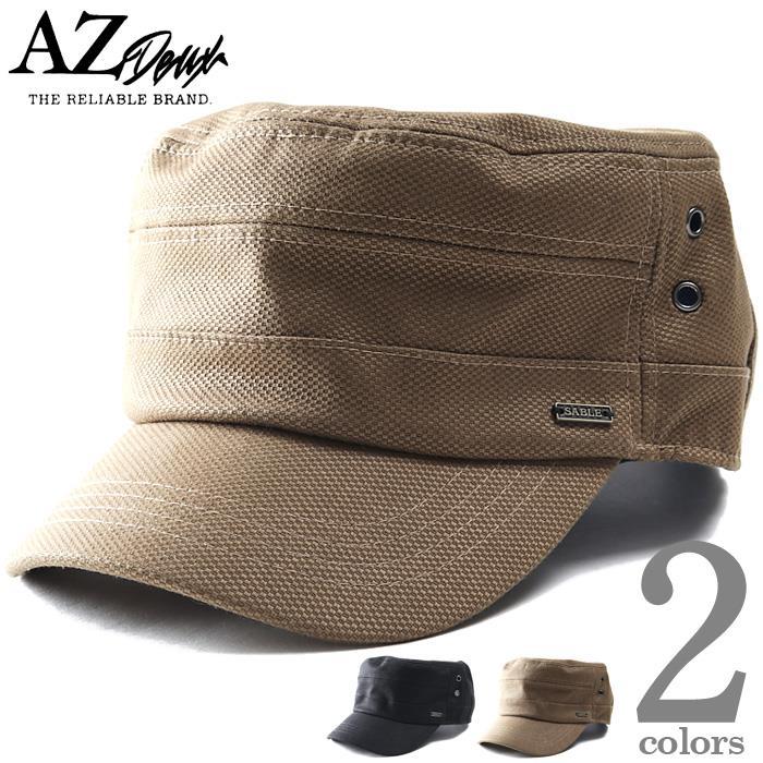 大きいサイズ メンズ AZ DEUX プレート付 鹿の子風 ワーク キャップ 帽子 az-200303