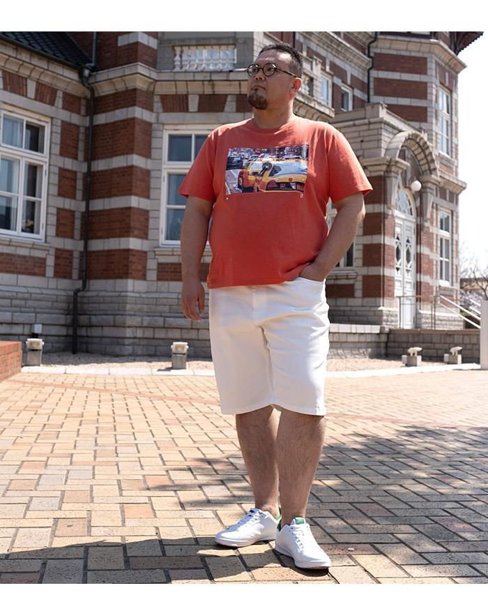 【SPSS】大きいサイズ メンズ NYC スラブ プリント 半袖 Tシャツ azt-2002108