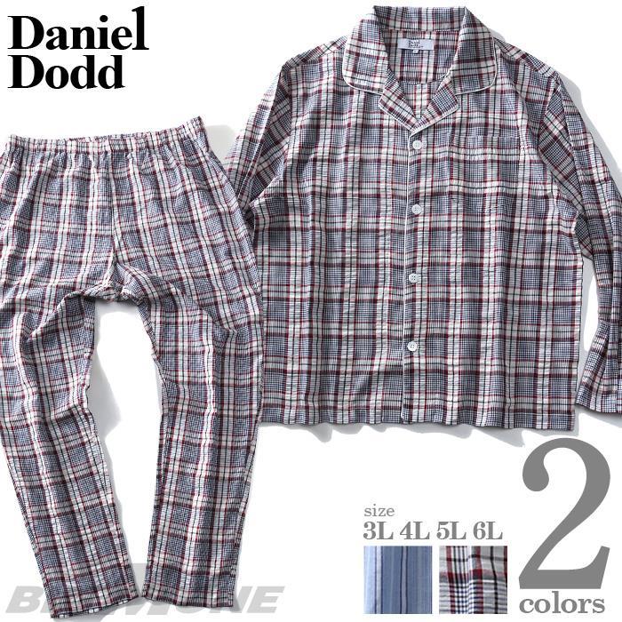 大きいサイズ メンズ DANIEL DODD 長袖 布帛 パジャマ azpj-200246