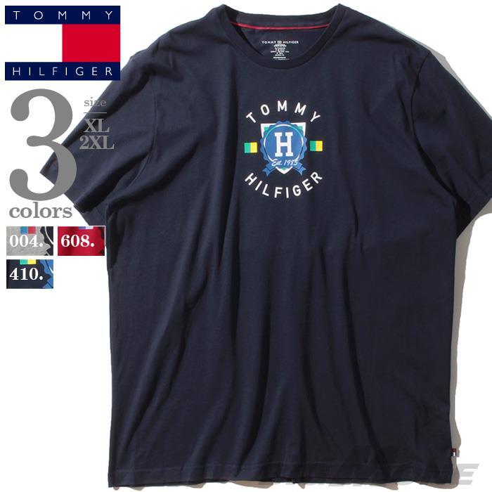 ブランドセール 大きいサイズ メンズ TOMMY HILFIGER トミーヒルフィガー プリント 半袖 Tシャツ USA直輸入 09t3784