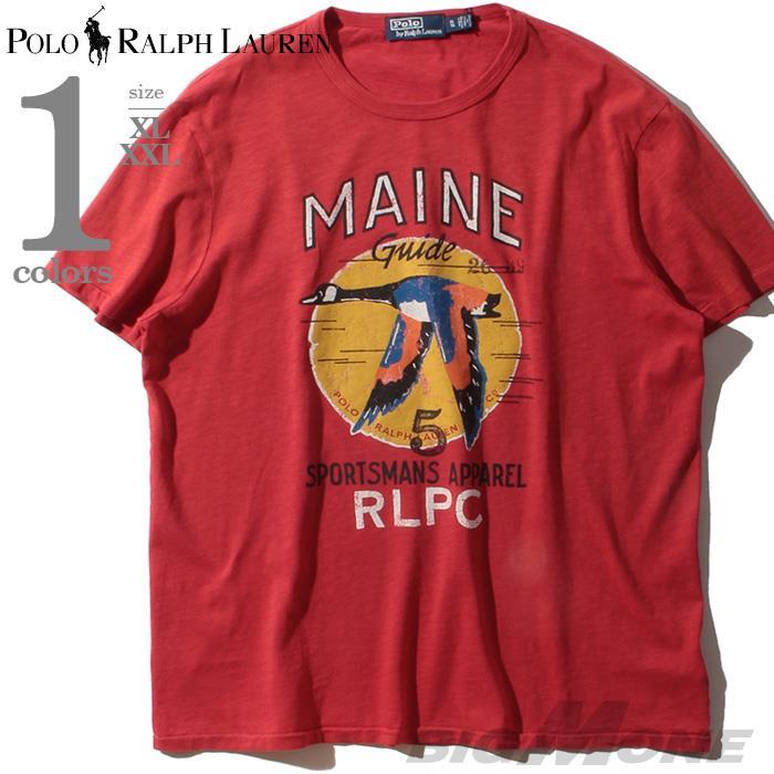 大きいサイズ メンズ POLO RALPH LAUREN ポロ ラルフローレン 半袖 プリント Tシャツ USA直輸入 710791579