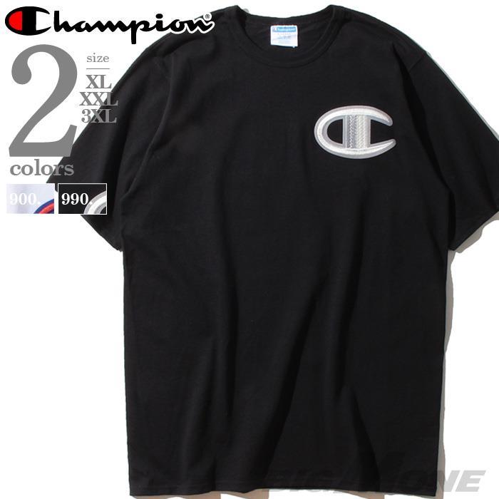 ブランドセール 大きいサイズ メンズ Champion チャンピオン ビッグロゴ刺繍 半袖 Tシャツ USA直輸入 gt19-y07981