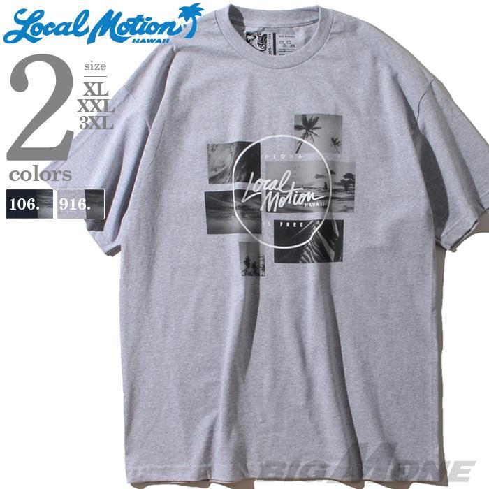 ブランドセール 大きいサイズ メンズ LOCAL MOTION ローカルモーション 半袖 プリント Tシャツ USA直輸入 smt17311