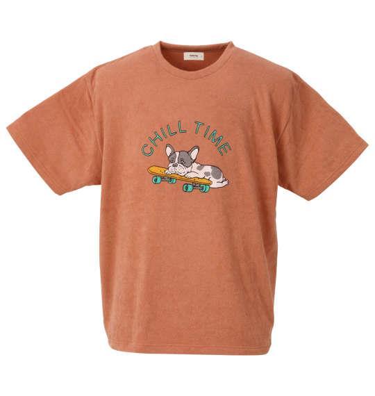 大きいサイズ メンズ kailua Bay ナノテック加工 パイル 半袖 Tシャツ サーモン 1258-0255-1 3L 4L 5L 6L