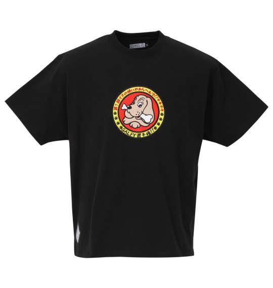大きいサイズ メンズ GALFY イヌ使い 半袖 Tシャツ ブラック 1258-0297-1 3L 4L 5L 6L