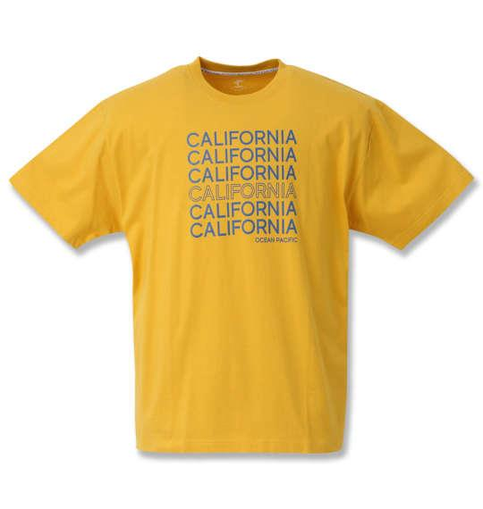 大きいサイズ メンズ OCEAN PACIFIC プリント 半袖 Tシャツ イエロー 1268-0262-1 3L 4L 5L 6L 8L