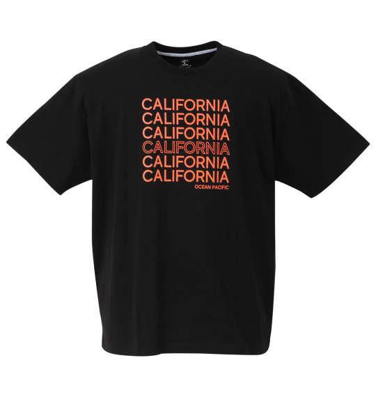大きいサイズ メンズ OCEAN PACIFIC プリント 半袖 Tシャツ ブラック 1268-0262-2 3L 4L 5L 6L 8L