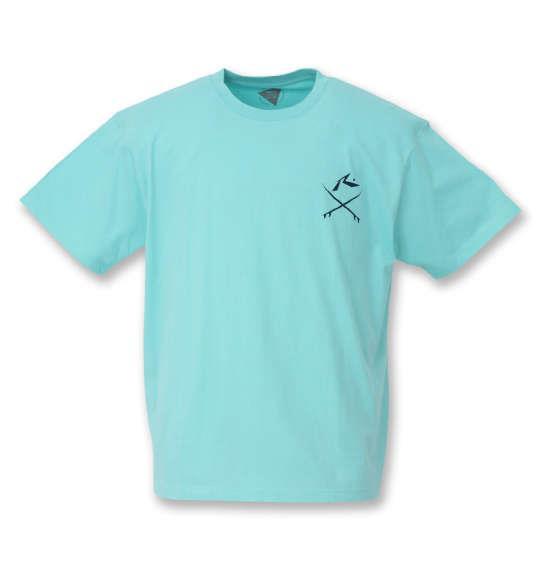 大きいサイズ メンズ RUSTY プリント 半袖 Tシャツ ミント 1268-0273-1 3L 4L 5L 6L 8L