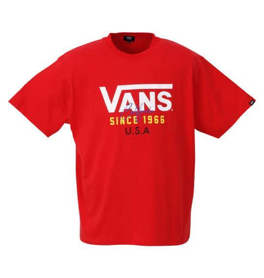大きいサイズ メンズ VANS FLV USA 半袖 Tシャツ レッド 1278-0565-3 3L 4L 5L