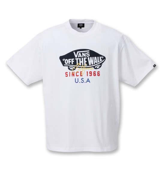 大きいサイズ メンズ VANS OTW USA 半袖 Tシャツ ホワイト 1278-0566-1 3L 4L 5L 6L