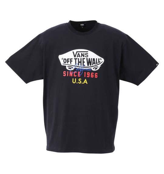 大きいサイズ メンズ VANS OTW USA 半袖 Tシャツ ネイビー 1278-0566-2 3L 4L 5L 6L