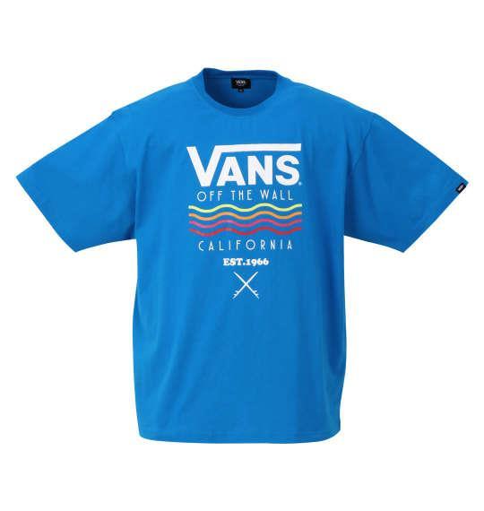 大きいサイズ メンズ VANS Wave&Surf 半袖 Tシャツ ターコイズ 1278-0567-1 3L 4L 5L 6L