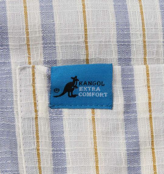大きいサイズ メンズ KANGOL EXTRA COMFORT ふんわり ドビー ストライプ 半袖 パジャマ ライトグレー 1259-0203-2 3L 4L 5L 6L