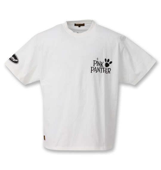 大きいサイズ メンズ PINK PANTHER × FLAGSTAFF 半袖 Tシャツ ホワイト 1278-0227-1 3L 4L 5L 6L
