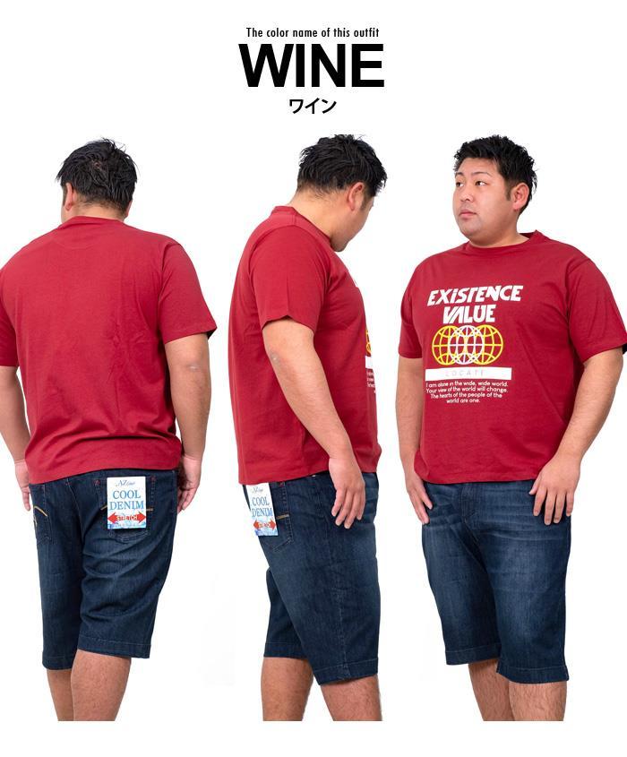 大きいサイズ メンズ DANIEL DODD オーガニック プリント 半袖 Tシャツ EXISTENCE VALUE azt-200260