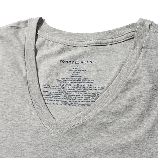 レギュラーサイズ TOMMY HILFIGER トミーヒルフィガー 肌着 下着 半袖 Tシャツ Vネック 3枚セット メンズ USA直輸入 r09t3149
