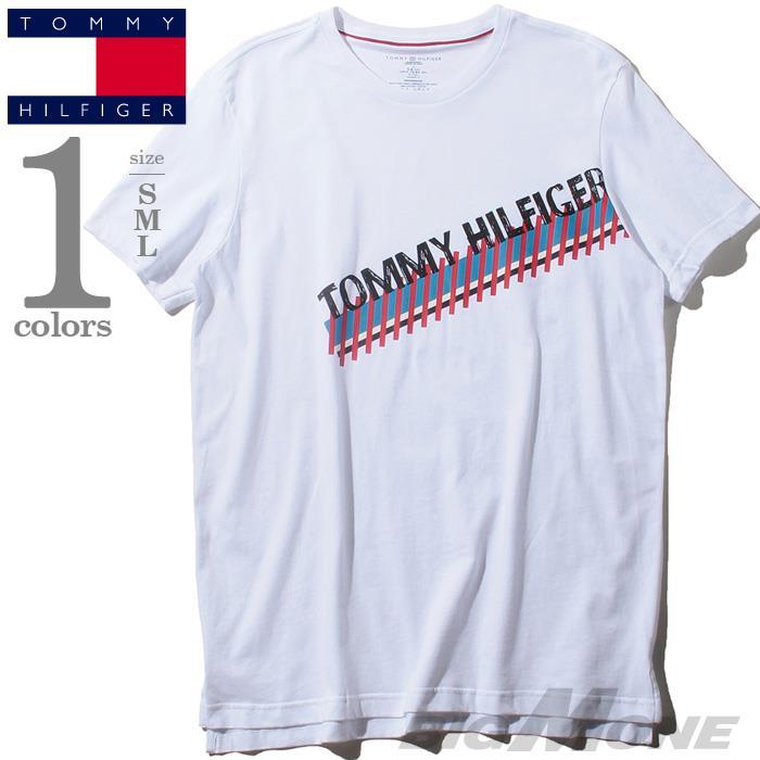 レギュラーサイズ TOMMY HILFIGER トミーヒルフィガー プリント 半袖 Tシャツ メンズ USA直輸入 r09t3549