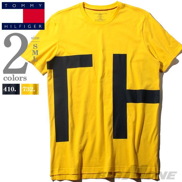 レギュラーサイズ TOMMY HILFIGER トミーヒルフィガー プリント 半袖 Tシャツ メンズ USA直輸入 r09t3551