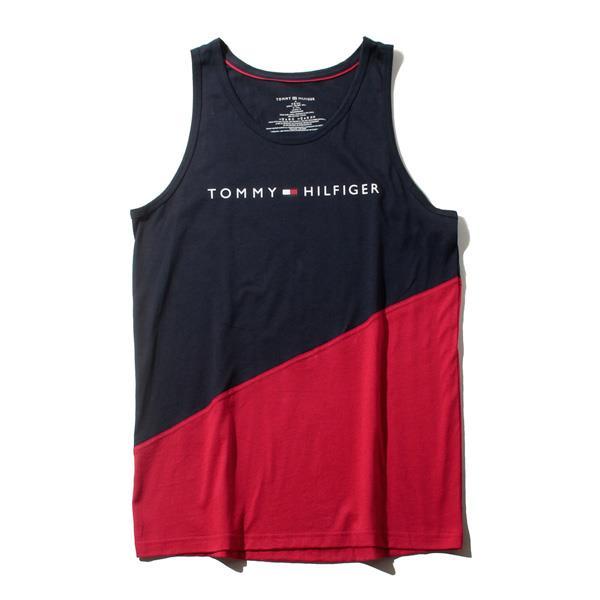 レギュラーサイズ TOMMY HILFIGER トミーヒルフィガー 切替 タンクトップ メンズ USA直輸入 r09t3545