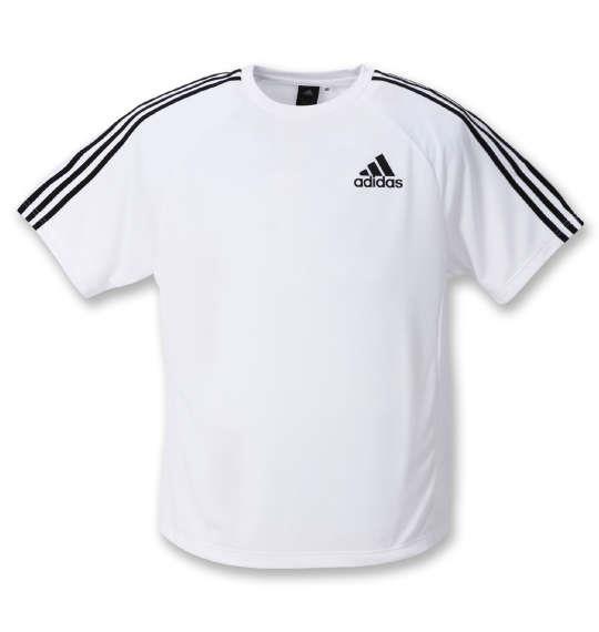 大きいサイズ メンズ adidas 半袖 Tシャツ ホワイト 1278-0331-1 3XO 4XO 5XO 6XO 7XO 8XO