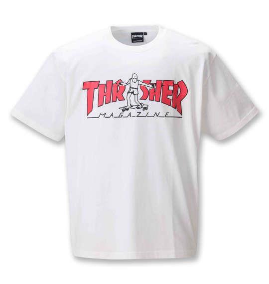 大きいサイズ メンズ THRASHER 半袖 Tシャツ ホワイト 1278-0610-1 3L 4L 5L 6L 8L
