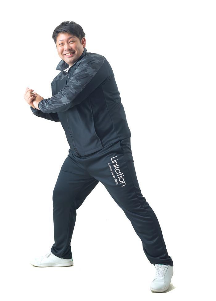 【冬最終】大きいサイズ メンズ LINKATION 吸汗速乾 スムス ジャージ 上下セット アスレジャー スポーツウェア 秋冬新作 la-jj200427