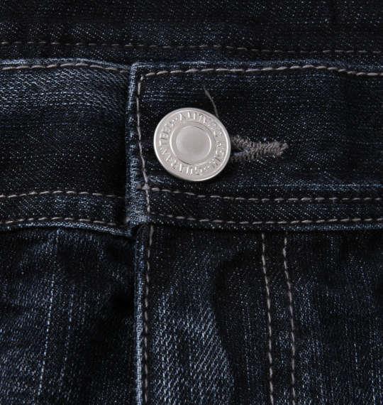 大きいサイズ メンズ RIMASTER ジップ付 デニム パンツ ネイビー 1254-0300-1 100 110 120 130 140 150