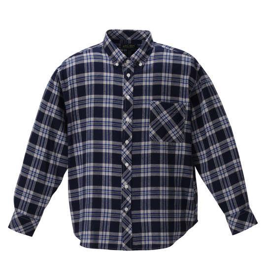 大きいサイズ メンズ Mc.S.P チェック B.D 長袖 シャツ ネイビー × ブルー 1257-0300-1 3L 4L 5L 6L 8L