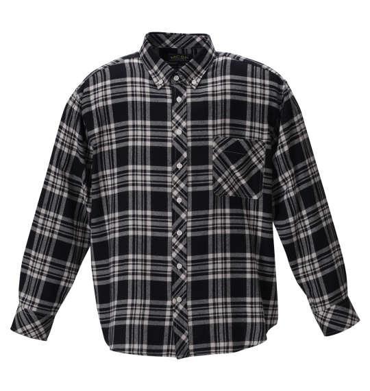大きいサイズ メンズ Mc.S.P チェック B.D 長袖 シャツ ブラック × ホワイト 1257-0302-1 3L 4L 5L 6L 8L