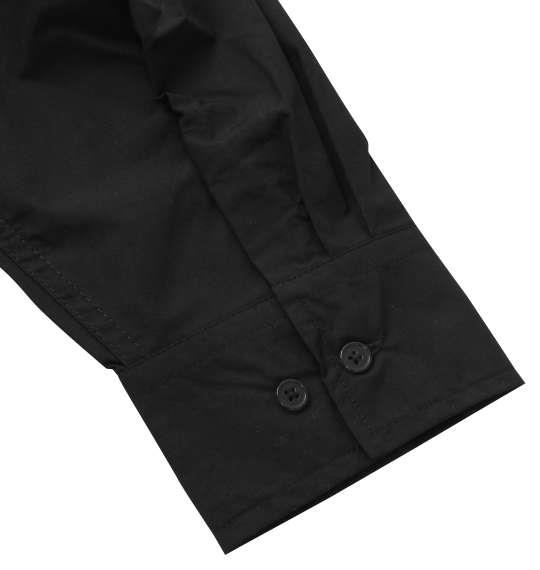 大きいサイズ メンズ MODISH GAZE 転写プリント 長袖 シャツ ブラック 1257-0330-2 3L 4L 5L 6L