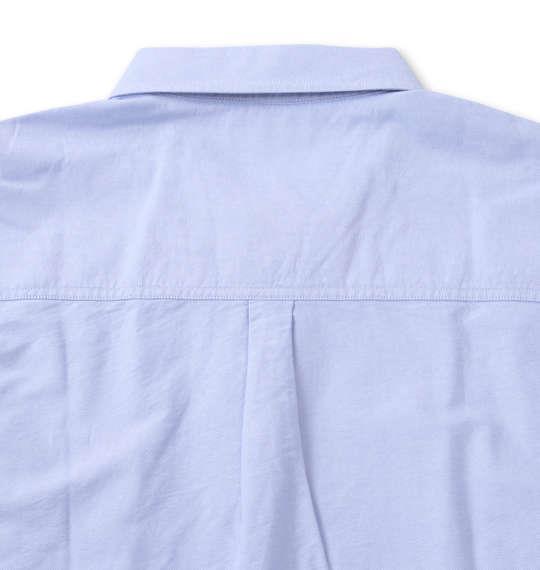 大きいサイズ メンズ H by FIGER オックス B.D 長袖 シャツ サックス 1267-0320-2 3L 4L 5L 6L 8L