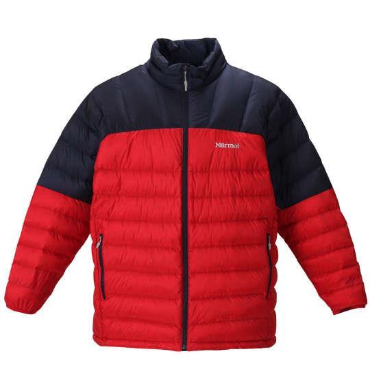 大きいサイズ メンズ Marmot デュース ダウン ジャケット チームレッド × ネイビー 1273-0320-3 3L 4L 5L 6L
