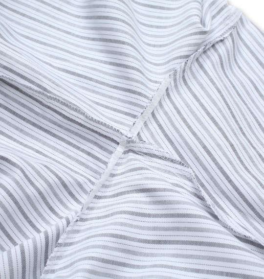 大きいサイズ メンズ HIROKO KOSHINO HOMME B.D 長袖 シャツ ホワイト × チャコール 1277-0314-1 4L 5L 6L 7L 8L 9L