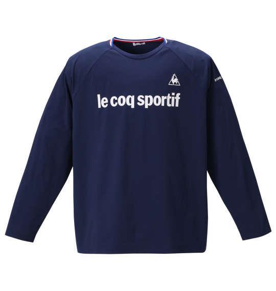 大きいサイズ メンズ LE COQ SPORTIF 長袖 Tシャツ ネイビー 1278-0310-1 2L 3L 4L 5L 6L