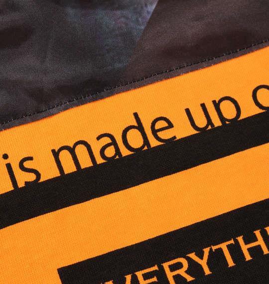 大きいサイズ メンズ in the attic 背中昇華転写貼り付け 長袖 Tシャツ オレンジ × ブラック 1258-0301-1 2L 3L 4L 5L 6L