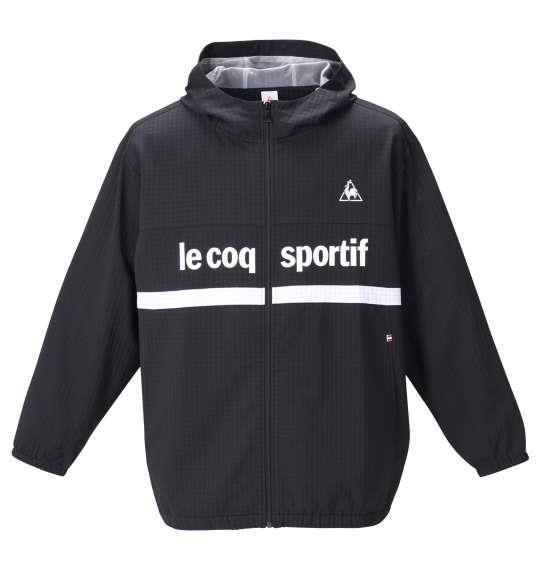 大きいサイズ メンズ LE COQ SPORTIF グリッド クロス ジャケット ブラック 1276-0332-2 2L 3L 4L 5L 6L