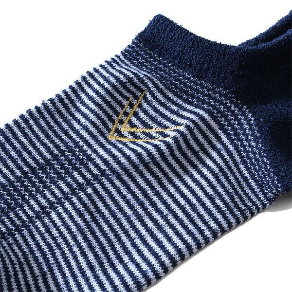 大きいサイズ メンズ LINKATION ボーダー柄 アンクル ソックス 靴下 アスレジャー スポーツウェア 秋冬新作 lnk-5101