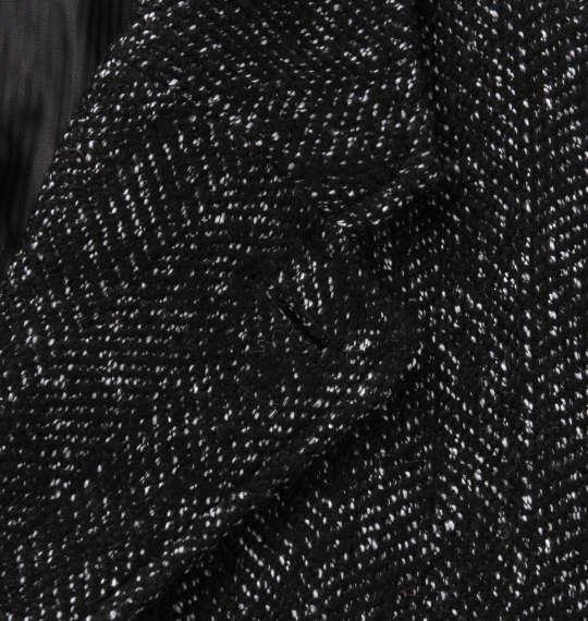 大きいサイズ メンズ in the attic ツイード チェスター コート ブラック系 1253-0351-2 2L 3L 4L 5L 6L