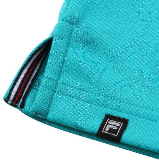 【golf1】大きいサイズ メンズ FILA GOLF ジャガード 半袖 シャツ + インナー セット ターコイズ × ホワイト 1278-0371-2 3L 4L 5L 6L