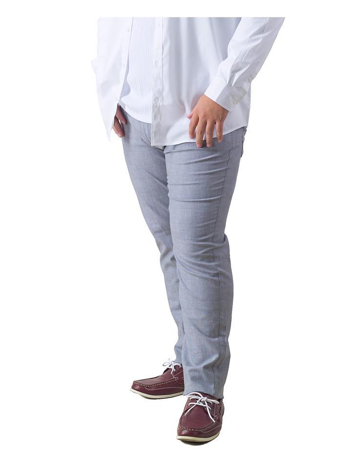 大きいサイズ メンズ DANIEL DODD グレンチェック 5ポケット スリム パンツ 秋冬新作 651-d209002